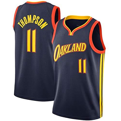 Warriors Thompson #11 - Camiseta de baloncesto retro que absorbe la humedad,...