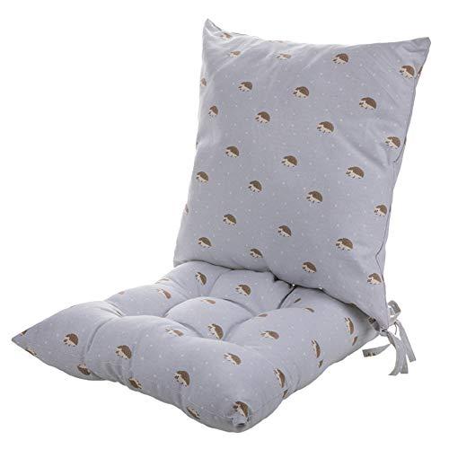 Zitkussen stoel, zitkussen tuinstoel, poeffe zitkussen, zacht kussen verlicht rugpijn in het stuitbeen, geschikt voor thuis, kantoor, 42 cm x 42 cm