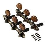 Yibuy Classical Guitar String Tuning Machine Head Guitar Tuning Key Set of 2