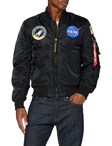 ALPHA INDUSTRIES Herren MA-1 VF NASA Bomberjacke, Black, Large