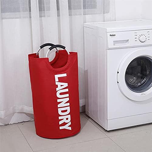 Sywlwxkq Cesta de lavandería Plegable, Bolsa de Almacenamiento de Ropa Sucia con asa de aleación, cesto, Impermeable, Organizador de Tela de Juguete Oxford, Grande Nuevo