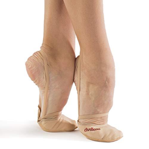 dvillena - Modelo Competicion Fantasia | Famosa Marca de Punteras de Gimnasia Rítmica Niña y Mujer | Puntas Que Usan Grandes Gimnastas Mundiales | Bailarinas Aérobica Deporte Danza Zapatillas Ballet