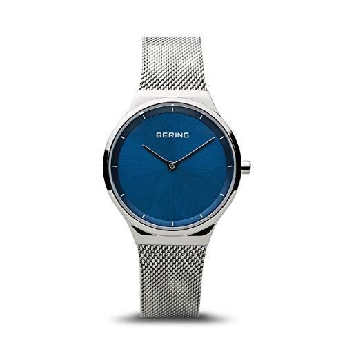 BERING dames analoog kwarts horloge met roestvrij stalen armband 12131-008