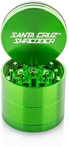 "Santa Cruz Shredder Herb Grinder 4 Piece Medium 2 1/8"" Superior Grip and Highest Quality Aluminium (Grey)"