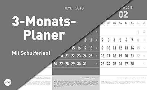 3-Monats-Tischaufsteller grau 2015