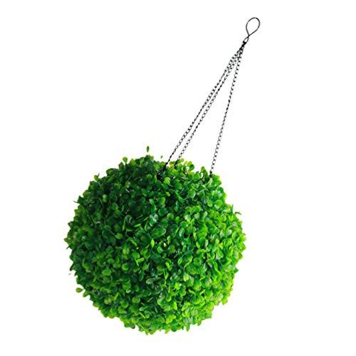 Holibanna Kunstmatige Verlichte Buxus Topiary Bal Opknoping Kunstmatige Plant Topiary Bal Met Zonne- Verlichting Faux Buxus Decoratieve Bal Faux Decoratieve Plant Ballen Voor Achtertuin