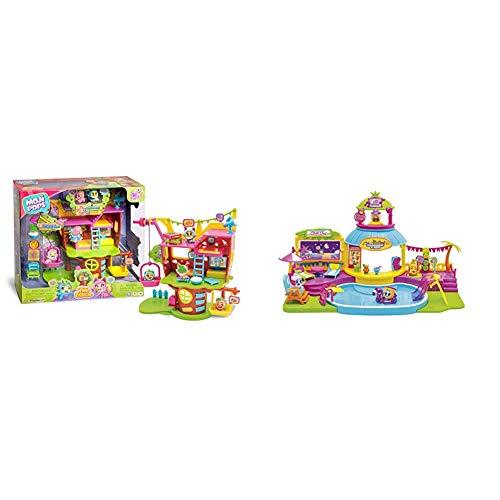 MOJIPOPS - Treehouse con 2 exclusivas Figuras MojiPops y Variedad de Accesorios , Color/Modelo Surtido + Pool Party con 2 exclusivas Figuras MojiPops y Variedad de Accesorios