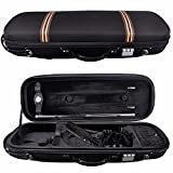 Aileen 4/4 Full Size Hard Shell Violin Case Oblong with Hygrometer and Bow Hair Container