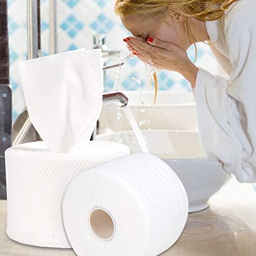 Emoshayoga Removedor de Herramientas para el Cuidado de la Piel Limpieza cosmética Algodón Toalla de Limpieza desechable Toallas de Maquillaje para Viajes de Negocios