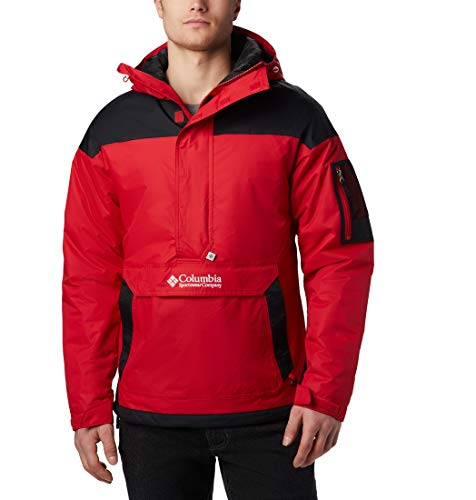 Columbia Challenger Chaqueta Sudadera, Hombre, Rojo (Mountain Red/Black), M