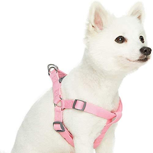 BECCYYLY Arnés para Perros sin tirón Arnés clásico para Perros de Color sólido, cinturón de Seguridad, arnés para el Pecho, Correa para Perros, Cuerda de tracción Longitud 142 cm