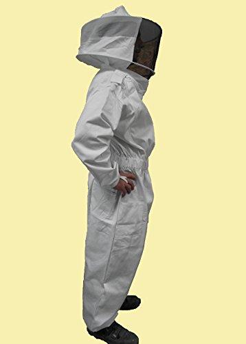 Förster-Fellnest Qualitäts Bekleidung für Imker: Overall, Imkeranzug, Imkeroverall mit Abnehmbarer Haube in der Größe XXXL (66/68)