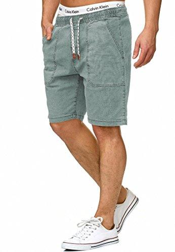 Indicode Caballero Stoufville Pantalones Cortos Chinos con 3 Bolsillos y cordón de 98% algodón | Más Corto Pantalón Regular Fit Bermuda Stretch Men Pants Verano para Hombres Blue Surf S