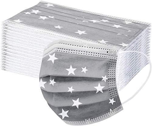 Mimagogo 50 Stücke Einweg Erwachsene mund und Nasenschutz, Mundbedeckung Atmungsaktive Staubschutz Bandana Frauen männlich Staubdicht Multifunktional Halstuch (grau-01)