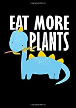 Notebook: Dino Kids Vegetarian Vegan School Gift 120 Pages, A4 (About 8,5X11 Inches / Letter), Lined / Ruled, Diary