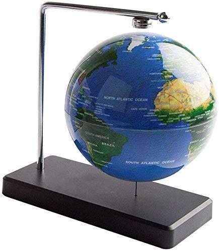XUSHEN-HU Explore el mundo 10 cm Globo Mundo Atlas Giratorio Con Soporte Regalo Educativo De Navidad Globo, Globo Mundial Azul