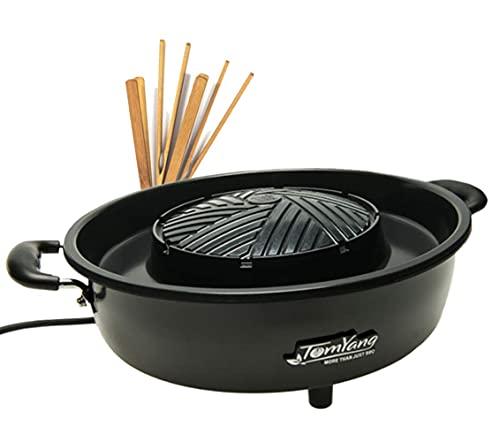 TomYang BBQ - Elektrische Thai BBQ Grill en Hot Pot - Tafelgrill en Fondue met Zwitserse coating