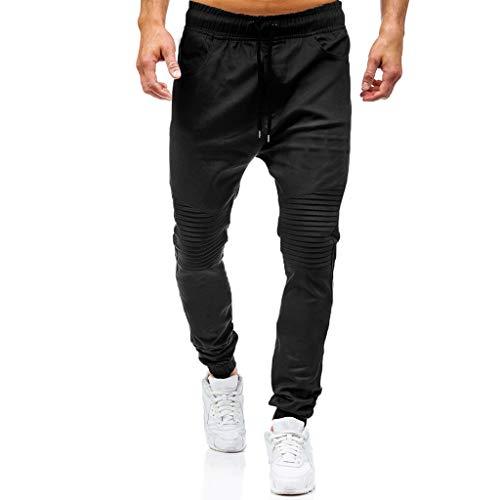 JiaMeng Pantalones de Trabajo Estilo Cargo para Hombre Pantalones Largos de pantalón de Trabajo Multibolsillos sólidos al Aire Libre Ocasionales para Exteriores Acampar Senderismo