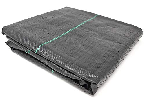 GardenPrime Weed Control Membrane, Lined, Woven, Landscape Fabric 100gsm...