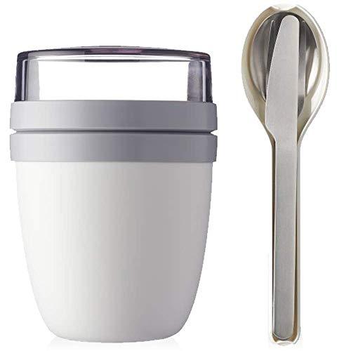 Mepal Lunchpot Plus Besteckset Frühstücksset to Go Becher (White)