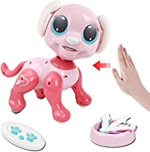 Tuptoel Remote Control Robot Dog Toy - Interactive Remote Control, Gesture Control, STEM Programmable, Lights and Sounds Rc Robot Toys Electronic Pets Toys Dog Gifts for Girls Age 3 4 5 6 7 8 9 10+