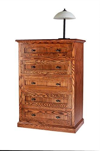 Forest Designs Mission Oak Five Drawer Chest: 34W x 48H x 18D 34w x 48h x 18d Golden Oak