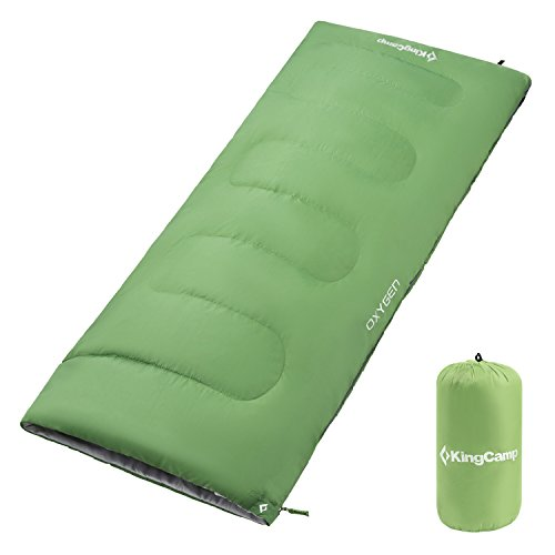 KingCamp Sleeping Bag Envelope Adults Three Season Warm Lightweight Portable Waterproof Comfort for Cool Weather Backpacking Camping Hiking 39.2F/4C