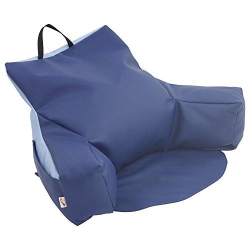 ECR4Kids Relax-N-Read zitzak met opbergtas, kleurrijk, Navy and Powder Blue, 1
