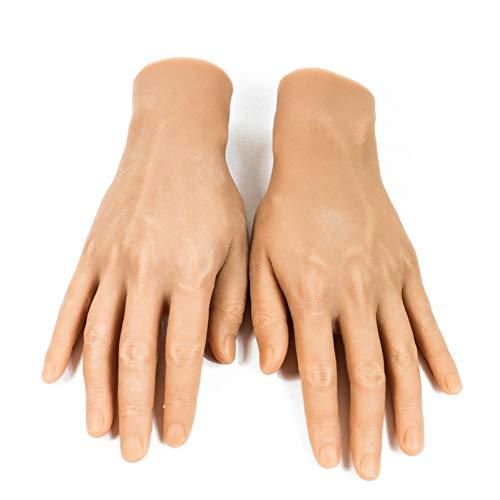 XHH 1 Paire de Mains Silicone Modèle de Main Photo Modèle Femme Mannequin Main Sketch Nail Art Pratique Bijoux Montre Affichage