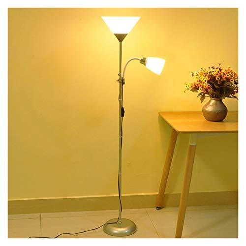 lámpara de piso Lámparas de pie pintadas de hierro moderno de estilo americano Ajustable E27 LED 220V Luces de piso de novedad para el estudio de la sala de estar Oficina de la noche Lámpara de Pie