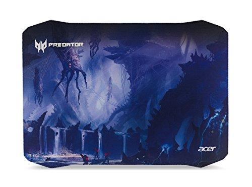 Acer Predator Gaming Mauspad (reibungsarme Faseroberfläche, selbstleuchtendes Predator Logo, Unterseite aus Naturkautschuk, leicht zu reinigen, Größe M, Alien Jungle Design)