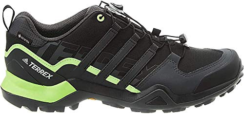 adidas Mens Terrex Swift R2 GTX Walking Shoe, Core Black/Solid Grey/Signal Green, 42 2/3 EU