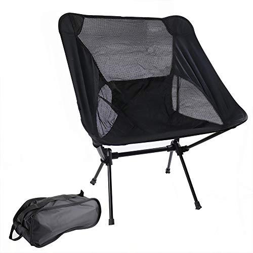 Campingstoel, compact, ultralicht, mini vissen, inklapbare strandstoel, visstoel met aluminium frame, stabiele outdoorstoel, draagvermogen: 150 kg