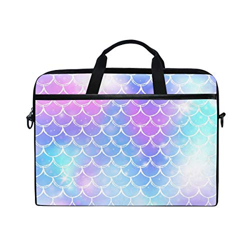 Laptop Case, Kawaii Rainbow Scales Pattern Computer Sleeve Protective Bag 3 Layer with Durable Zipper for Lenovo Hp MacBook Pro Neoprene Notebook 14 15 15.4 inch