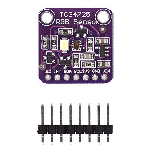 TCS34725, Sensor, praktisches I2C-Erkennungsmodul mit hoher Empfindlichkeit für langlebige elektrische Geräte zur Steuerung der Hintergrundbeleuchtung des Arduino-Displays