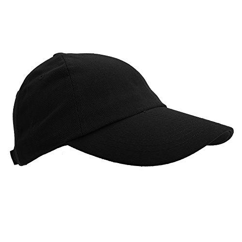 Result - Casquette Unie Style Pro - Adulte Unisexe (Taille Unique) (Noir)