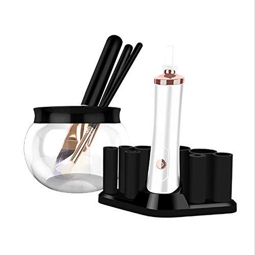 WQWEAQA Pinceau de Maquillage Cleaner Cleaner Portable Handheld Brosses Automatique cosmétiques et sécheuse Spinner Machine Maquillage Brosse, Puissant Rapide/Nettoyage en Profondeur,Blanc