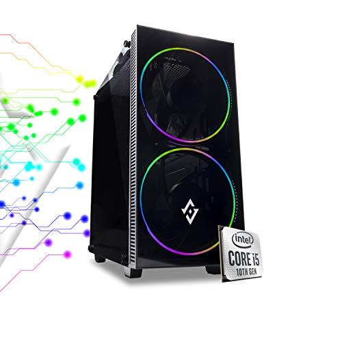 PJ RIG ORION - Pc gaming completo Intel i5 10400F 4.30ghz in Turbo/Gtx 1650 4gb Ddr5/ Ram Ddr4 16gb 3000 Mhz/Ssd M.2 500gb / Windows 10 PRO/Computer da gaming assemblato/Pc desktop gaming