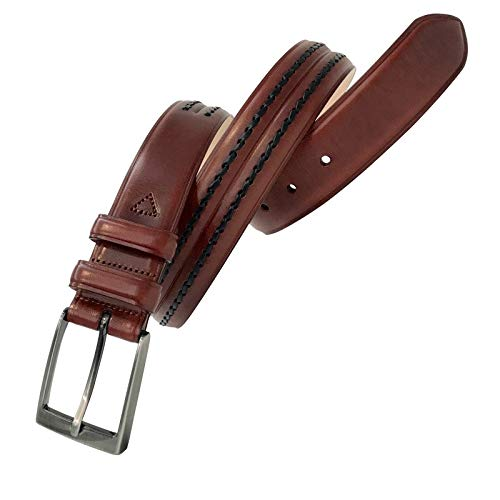 Leyva - Cinturón de piel de Vaquetilla de hombre (100 cm)