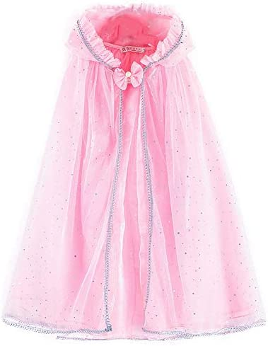 Little Girl Cape Cloak Dresses Coat Matching Princess Wedding Birthday Party Halloween Hooded product image
