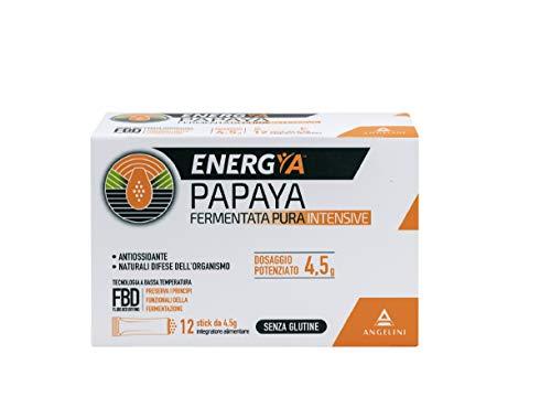 Energya Papaya Fermentata Pura Intensive, Integratore Alimentare Antiossidante, Integratore per Difese Immunitarie, 12 Bustine