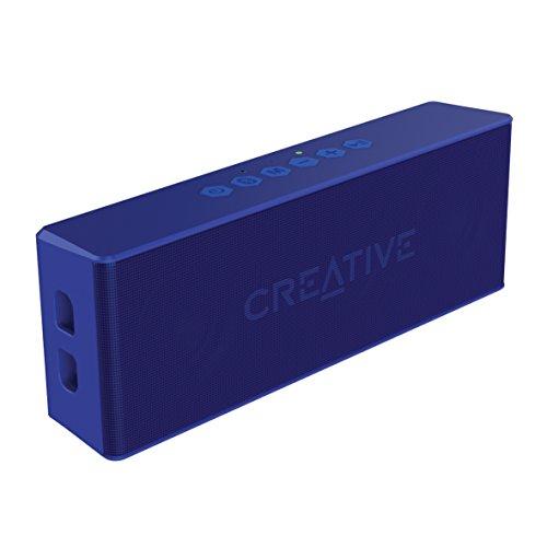 Creative MUVO 2 - Leistungsstarker, kompakter, wetterfester Wireless Bluetooth Lautsprecher (für Apple iOS/Android Smartphone, Tablet/MP3) blau