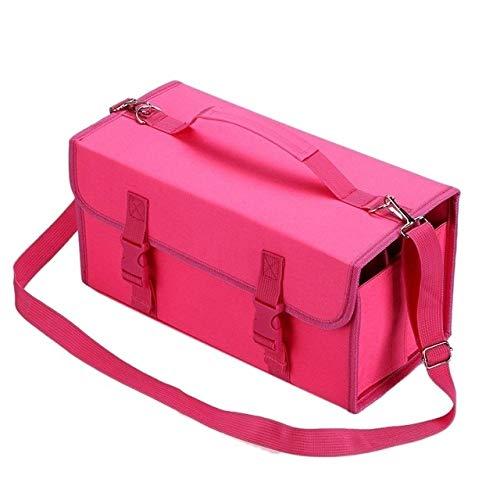 FNMYH Organización de papelería Mark Tock Pen Bag Bags BAQUETA Bolsa DE Almacenamiento PISTenta Bolsa de Pintura, Tamaño: 60 Color de Color (2 PCS) (Color : Rose Red)