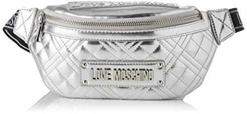 Love Moschino Damen Jc4206pp0a Umhängetasche, Silber (Silver), 10x13x30 Centimeters