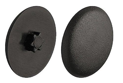 Lot de 100 bouchons de vis en plastique noir RAL 9005 Bouchons de fermeture rond Modèle H1121 Ø 12 mm intérieur IS20 bouchons de meubles pour meuble pour tête fraisée avec entraînement