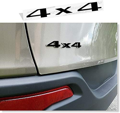 Reflective Concepts - 4x4 Emblem Overlay Decal Sticker - Fits: 2005-2021 Jeep Grand Cherokee - (Color: Gloss Black)