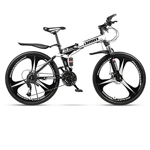 WGYDREAM Mountainbike Bici Bicicletta MTB 26inch Mountain Bike, Biciclette Pieghevoli Hard-Coda, Full Suspension e Dual Freno a Disco, Acciaio al Carbonio Telaio MTB Mountain Bike