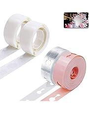 Ballong båge remsa tejp och limprickar, Telgoner ballong valvset rosa, 2 rullar ballonger dekorerade girlandremsor 5 m dubbla hål, 200 limpunkt ballongtejp för fest, bröllop, födelsedagsfest dekoration