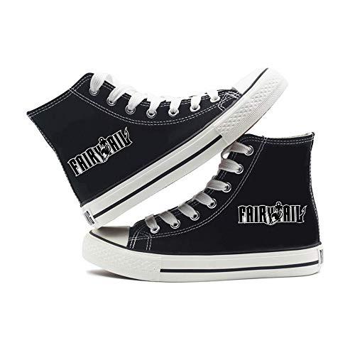 Fairy Tail Zapatos Cómoda Diario El otoño y el Invierno Zapatos Lona Casual Deportivo de Alto-Top de los Hombres de la Tendencia Zapatos de Mujer Zapatillas