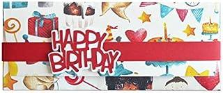 Porta soldi - compleanno -Bithday - busta portasoldi (formato 22 x 9,5 cm) + biglietto d'auguri vuoto all'interno - ideale...